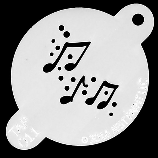 Tap Face Painting Stencil TAP011 Music