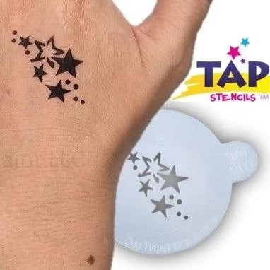 Tap Face Painting Stencil TAP012 Stars