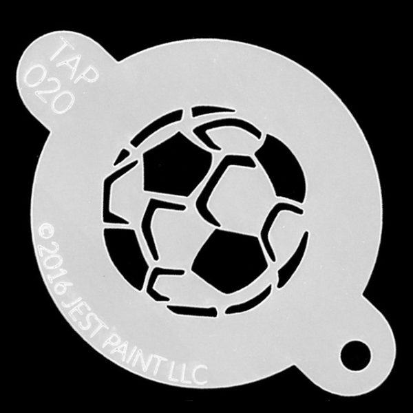 Tap Face Painting Stencil TAP020 Soccer Ball