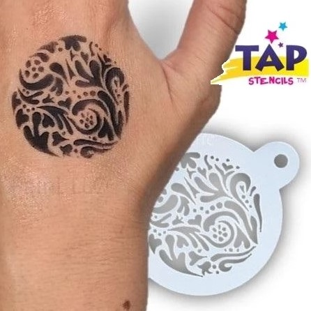 Tap Face Painting Stencil TAP022 Swirly