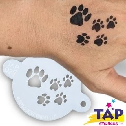 Tap Face Painting Stencil TAP023 Paw Prints