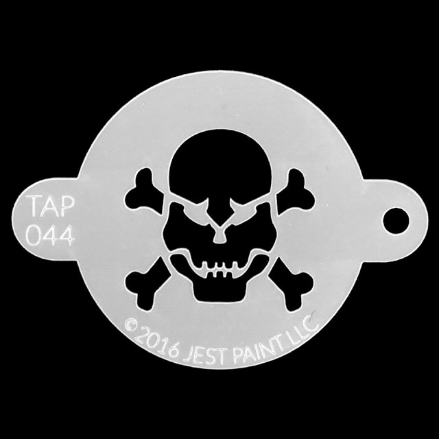 Tap Face Painting Stencil TAP044 Skull and Crossbones