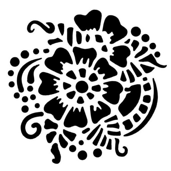 Tap Face Painting Stencil TAP047 Henna Pattern