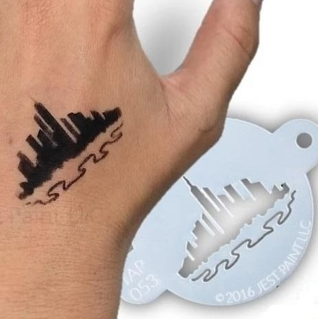 Tap Face Painting Stencil TAP053 City Scape