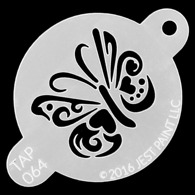 Tap Face Painting Stencil TAP064 Ornate Butterfly
