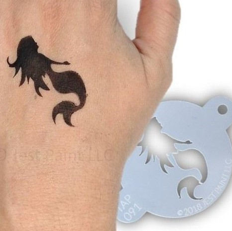Tap Face Painting Stencil TAP091 Mystical Mermaid