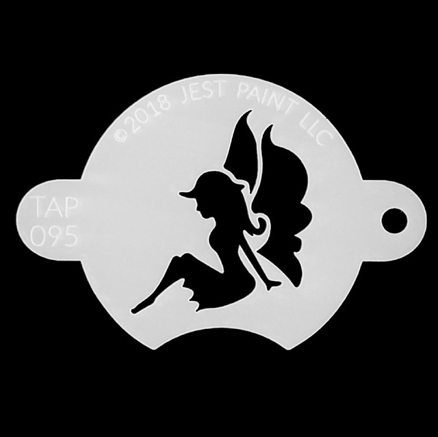 Tap Face Painting Stencil TAP095 Sitting Sweet Fairy