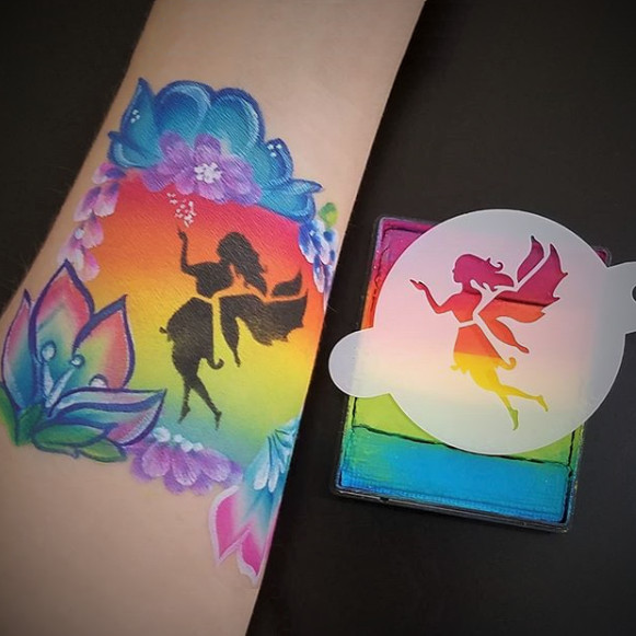 Tap Face Painting Stencil TAP096 Dancing Little Fairy