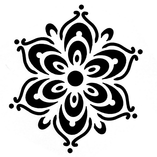 Tap Face Painting Stencil TAP098 Henna Flower
