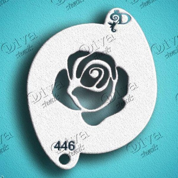 Diva Rose Bud Face Painting Stencil