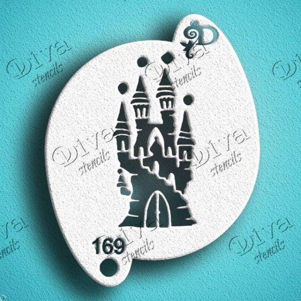 Diva Fairy Castle Face Painting Stencil