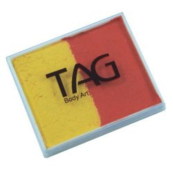 TAG Orange and Yellow 50g split-cake face paint