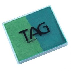 TAG Pearl Green and Pearl Lime 50g split-cake face paint
