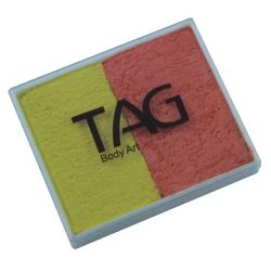 TAG Pearl Orange and Pearl Yellow 50g split-cake face paint