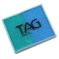 TAG Pearl Teal and Pearl Sky Blue 50g split-cake face paint