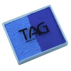 TAG Royal Blue and Powder Blue 50g split-cake face paint