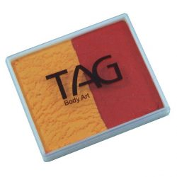 TAG Red and Golden Orange 50g split-cake face paint