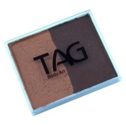 TAG Brown and Mid-brown 50g split-cake face paint
