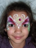 Flora split-cake fairy face painting design