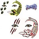 SOBA Bone Head T rex dinosaur skeleton face painting stencil