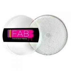 FAB Glitter White face paint 45g