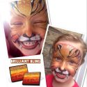 Silly Farm Brilliant Bling Rainbow Cake tiger face painting