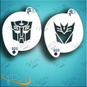 Diva Transformers Face Painting Stencil