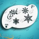 Diva Snowflake Elements Face Painting Stencil