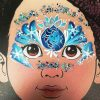 Elsa face painting design by Tammy Temple Smith