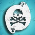 Diva Pirate Skull and Crossbones Face Painting Stencil