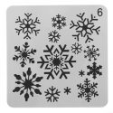 snowflake face painting stencil