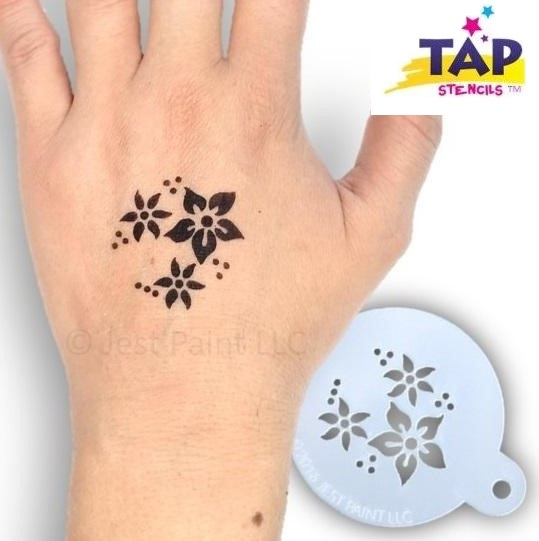 Tap Face Painting Stencil TAP002 Flowers