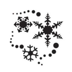 Tap Face Painting Stencil TAP015 Snowflakes