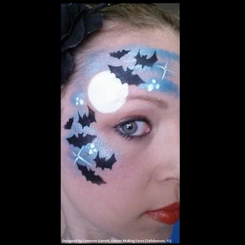 Tap Face Painting Stencil TAP026 Bats