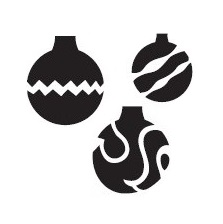 Tap Face Painting Stencil TAP035 Christmas Ornaments
