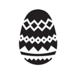 Tap Face Painting Stencil TAP041 Easter Egg