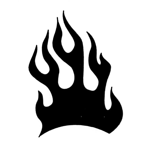 Tap Face Painting Stencil TAP045 Fire Flame
