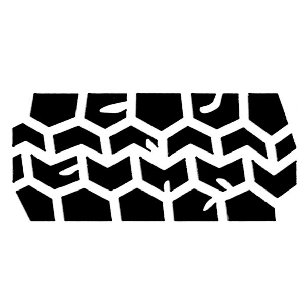 Tap Face Painting Stencil TAP046 Tyre Track