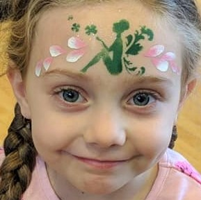 Diva Face Painting Stencil - Luck of the Fairy