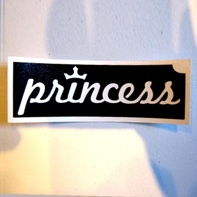 Glitter Tattoo Stencil - Princess Logo