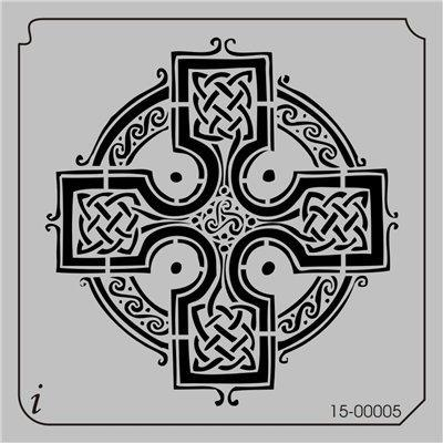 iStencil Face Painting Stencil - Celtic Cross