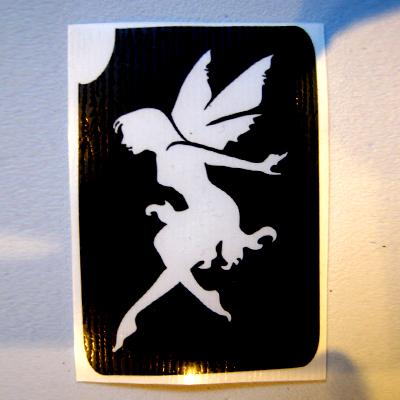 Glitter Tattoo Stencil - Fairy