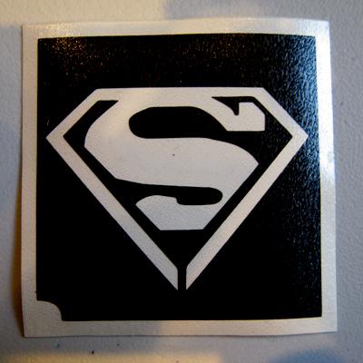 Glitter Tattoo Stencil - Superman