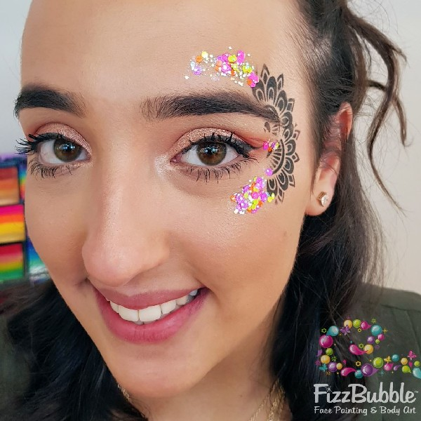 ABA Pixie Paint Chunky Glitter Gel - Valley Girl 30ml