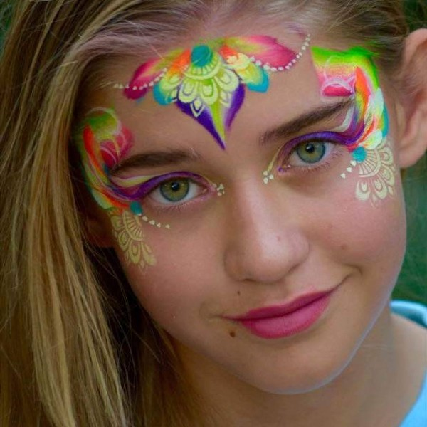 Fusion 1 inch one-stroke face paint - Summer Days 30g