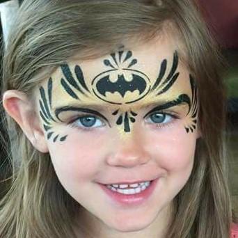 Diva Face Painting Stencil - Batman