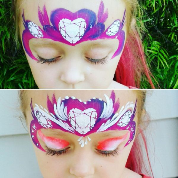 Diva Face Painting Stencil - Gem Band