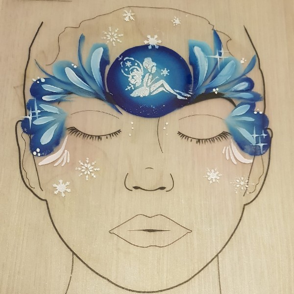 Diva Face Painting Stencil - Snow Fairy