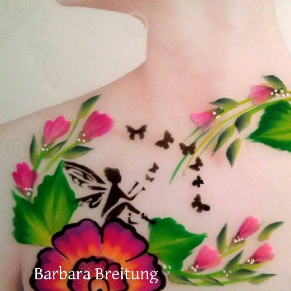 Diva Face Painting Stencil - Fairy and Butterfly Friends