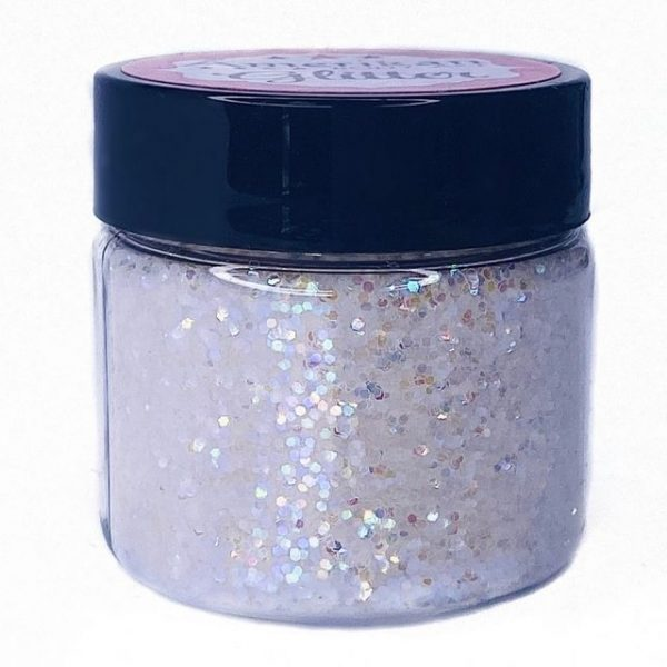 ABA Loose Chunky Cosmetic Glitter 30ml - Holographic White 0.025 Hex